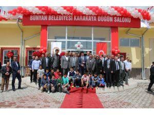 Bünyan Belediyesi Karakaya Düğün Salonu Hizmete Açıldı