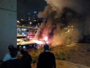İstanbul Otogarı'nda korkutan yangın