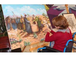 Engeli, Resim Yapmaya Engel Olamadı