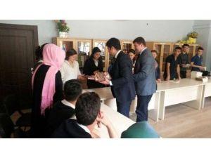 Hanönü'de Ödüllü Kitap Okuma Projesi Kapsamında Kitap Dağıtımı Yapıldı