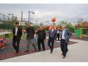 Başkan Dişli Temalı Park'ta İnceleme Yaptı