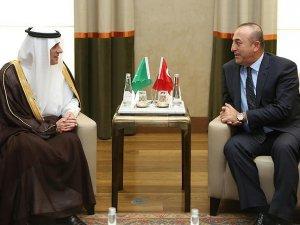 Dışişleri Bakanı Çavuşoğlu, Suudi mevkidaşı El Cubeyr ile görüştü