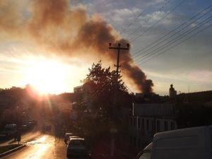 Urla Cezaevi'nde Korkutan Yangın