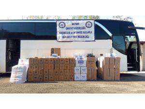 Yolcu Otobüsünde 58 Bin Paket Kaçak Sigara Ele Geçirildi