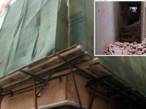 Nişantaşı'nda tadilat yapılan bina çöktü