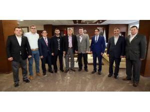 Başkan Karaosmanoğlu Dersiad Yönetimini Konuk Etti