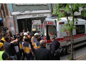 Nişantaşı'nda binada göçük: 1 yaralı