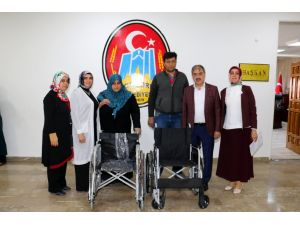 Çankırı Belediyesi'nden engelli vatandaşlara tekerlekli sandalye