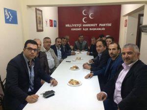 Edremit AK Parti'den MHP'ye Ziyaret