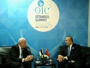 Bakan Çavuşoğlu, Filistin Dışişleri Bakanı Malki İle Görüştü