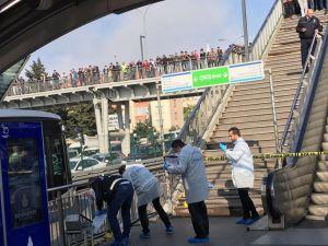 Metrobüs durağında şüpheli paket alarmı