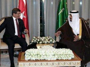 Başbakan Davutoğlu, Kral Selman ile görüştü