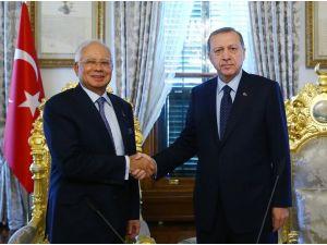Cumhurbaşkanı Erdoğan, Malezya Başbakanı Rezak'ı kabul etti