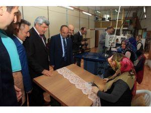 Başkanlar Kartepe'de Tekstilcilere Konuk Oldu