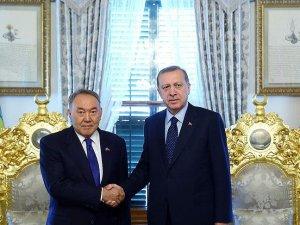 Erdoğan Nazarbayev ile görüştü