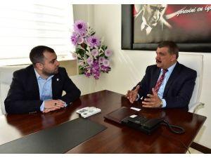 Mttb Başkanı Sağdıç, Başkan Gürkan'ı Ziyaret Etti
