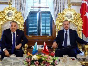 Cumhurbaşkanı Erdoğan ve Kazakistan Cumhurbaşkanı'ndan ortak bildiri