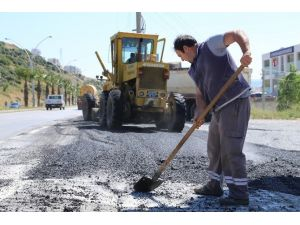Bodrum'da Asfaltlama Çalışmaları Devam Ediyor