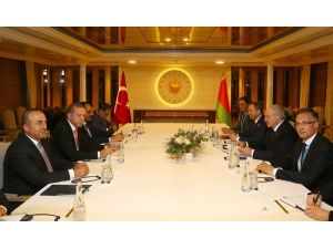 Erdoğan, Belarus Cumhurbaşkanı Lukashenko ile görüştü
