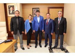 Sankon Antalya İl Başkanı Çimen, Başkan Türel'i Ziyaret Etti