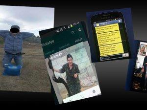 Teröristlerden şifreli SMS