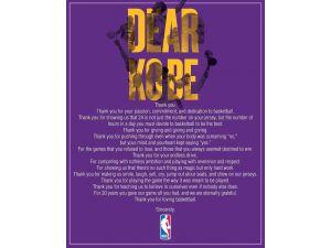 NBA'den Kobe Bryant'a özel mektuplu teşekkür