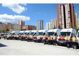 Sağlık Bakanlığı'ndan Malatya'ya 9 Ambulans Takviyesi