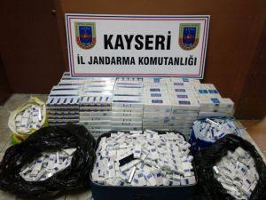 Jandarma Yolcu Treninde Sigara Kaçakçılığına Geçit Vermedi