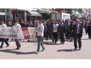 Beyşehir'de Mehteranlı Kutlu Doğum Yürüyüşü