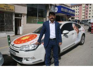 Cumhurbaşkanı Erdoğan'a Testek İçin Türkiye Turuna Çıkan Özavcı Yozgat'a Geldi
