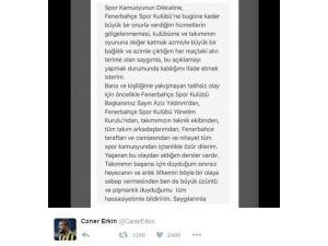 """Caner Erkin: """"Büyük Üzüntü Ve Pişmanlık Duyuyorum"""""""