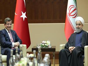 Başbakan Davutoğlu-Ruhani görüşmesinde terörle mücadele vurgusu