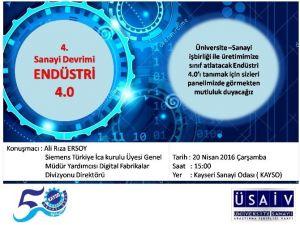 Endüstri 4.0 İle Kayseri Üretimi Sınıf Atlayacak