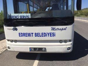 Edremit Belediye Otobüsü'nde Büyük Panik