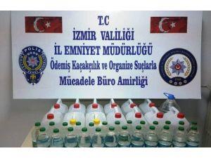 İzmir'de 95 Litre Sahte Rakı Ele Geçirildi