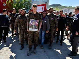 Mardin'de şehit polis için tören