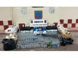 Jandarma Ve Polisten Kızkalesi'nde Sahte İçki Operasyonu