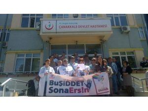 Tabip Odası Çanakkale Şubesi Ersin Arslan'ı Unutmadı