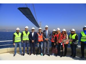 Kartepe Belediyesi Ekibi Körfez Geçiş Köprüsü'nü Gezdi