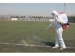 Büyükşehirden Futbol Sahalarına Antibakteriyel Bakım