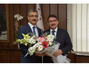 Başkan Çelik'ten Emniyet Müdürü Bilgiç'e 'Hayırlı Olsun' Ziyareti