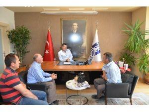 Dağpınar Muhtarından Başkan Mehmet Kocadon'a Ziyaret