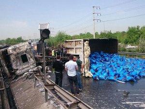 TEM Otoyolu'nda trafik kazası: 1 ölü, 4 yaralı