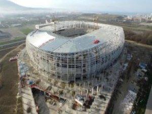 Samsunspor'un Yeni Stadının Yüzde 74'ü Bitti