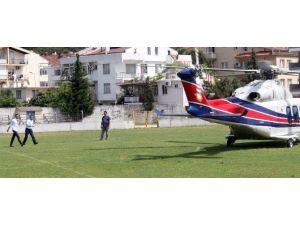 Sarıgül'ün Oğlu Helikopterle Yatına Bakmaya Geldi