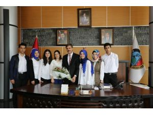 Öğrencilerden Yusuf Alemdar'a Ziyaret
