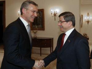 Başbakan Davutoğlu NATO Genel Sekreteri Stoltenberg İle Görüştü