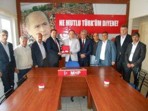 Türk Kızılayı Eskişehir Şubesi'nden MHP'ye Ziyaret