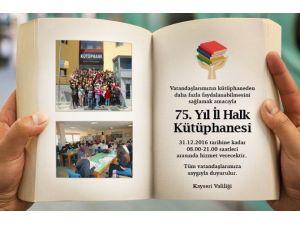 Halk Kütüphanesi Akşam 9'a Kadar Açık Kalacak