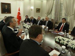 Başbakan Davutoğlu ile NATO Genel Sekreteri Stoltenberg bir araya geldi